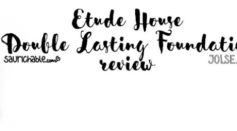 Review: Etude House Double Lasting Foundation