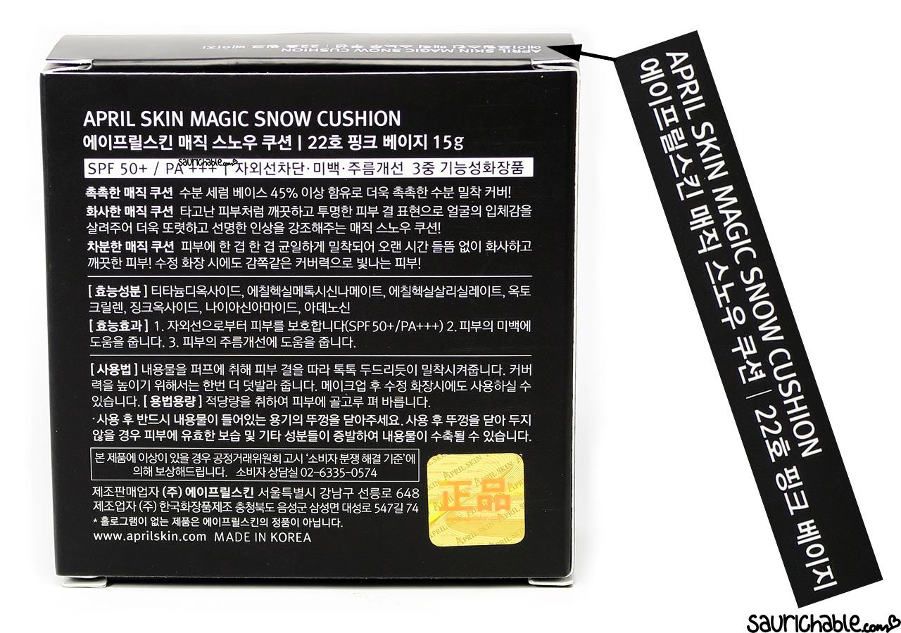 April Skin Magic Snow Cushion review