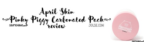 Review: April Skin Pinky Piggy Carbonated Pack