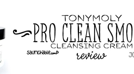 Review: Tonymoly Pro Clean Smoky Cleansing Cream