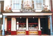 The original Musks shop on Newmarket High Street