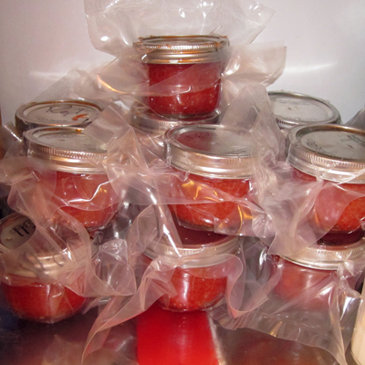Salmon Caviar in Refrigerator