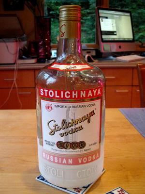 Iced Stolichnaya Vodka