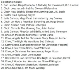 Christmas Vespers Selections from YouTube