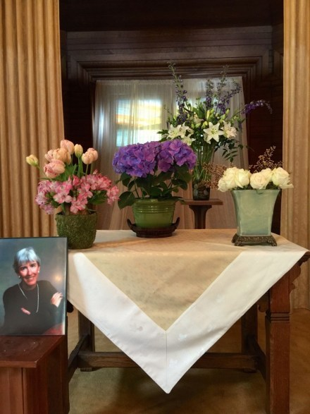 Joan Casey 3 flowers altar photo