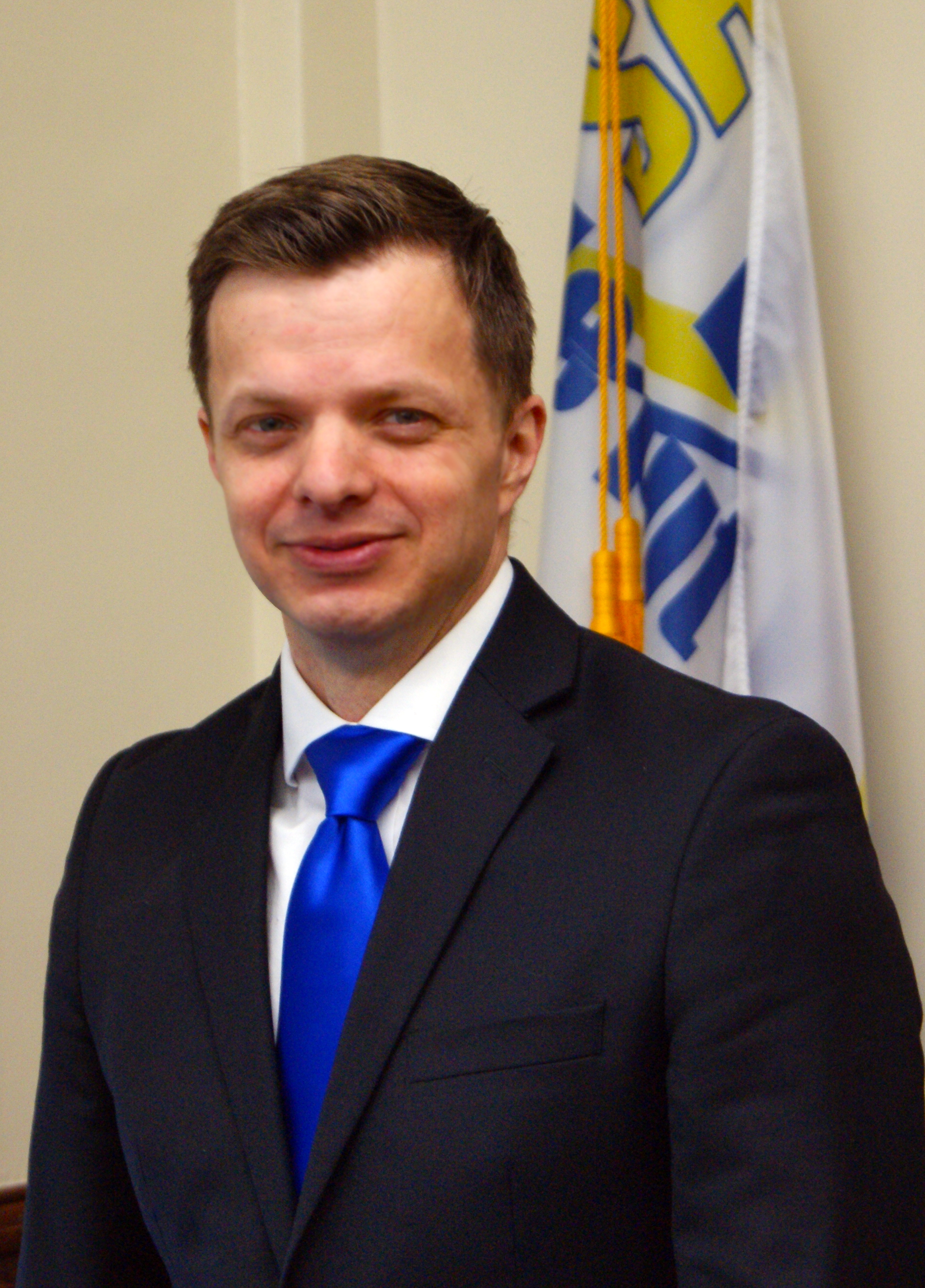 young man in business suit
