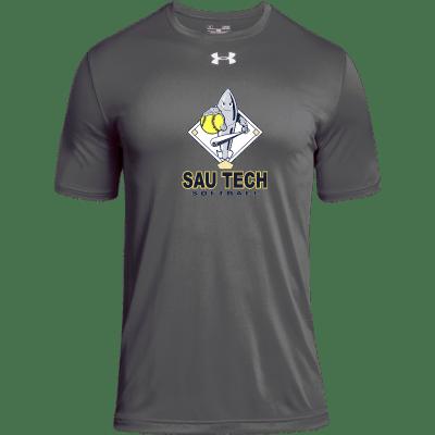 gray athletic shirt