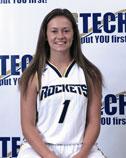 White female basketball player