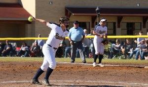 female softball pitcher