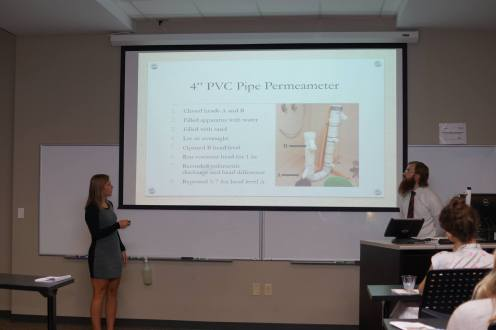 Permeameter Design & Time-lapse Image Analysis; Caleb Reiter & Nicole Woodall, with Dr. Susa Stonedahl