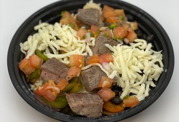 Black Bean Burrito Bowl with Steak