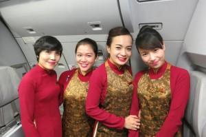 Vietnam Airlines attendants