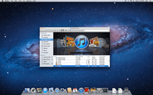 The standard user interface of Mac OS X