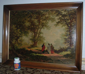 I was amazed at how well jigsaw-puzzle glue restored the protective covering on an old print of The Journey to Emmaus.
