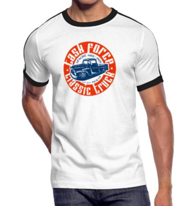 Task Force Maenner Kontrast-T-Shirt