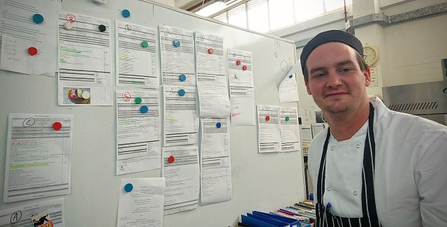 South African, Dylan ?, with his schedule behind. He and his team catered for 2,125 people the week I was there.