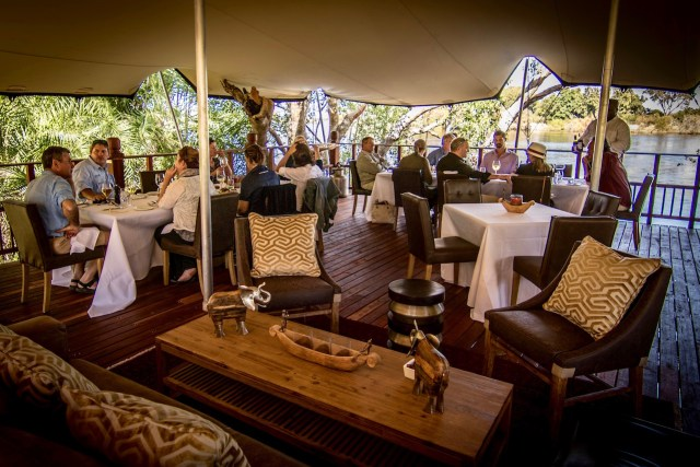 A get-together of friends and area agents invited to our first meal at The Elephant Café. Photo credit: Sean Edington.