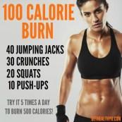 100 Calorie Burn Workout