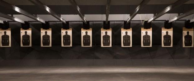 Indoor Shooting-Range with targets