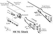 HK-91 G3 Stock Assembly Exploded Diagram