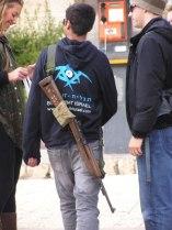 Israeli School Teacher With Slung M1 Carbine