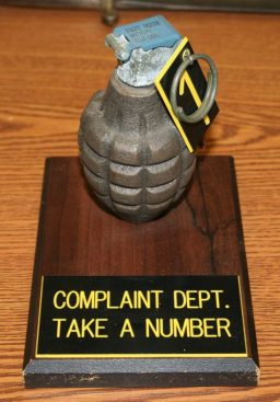 Complaint Take A Number Grenade