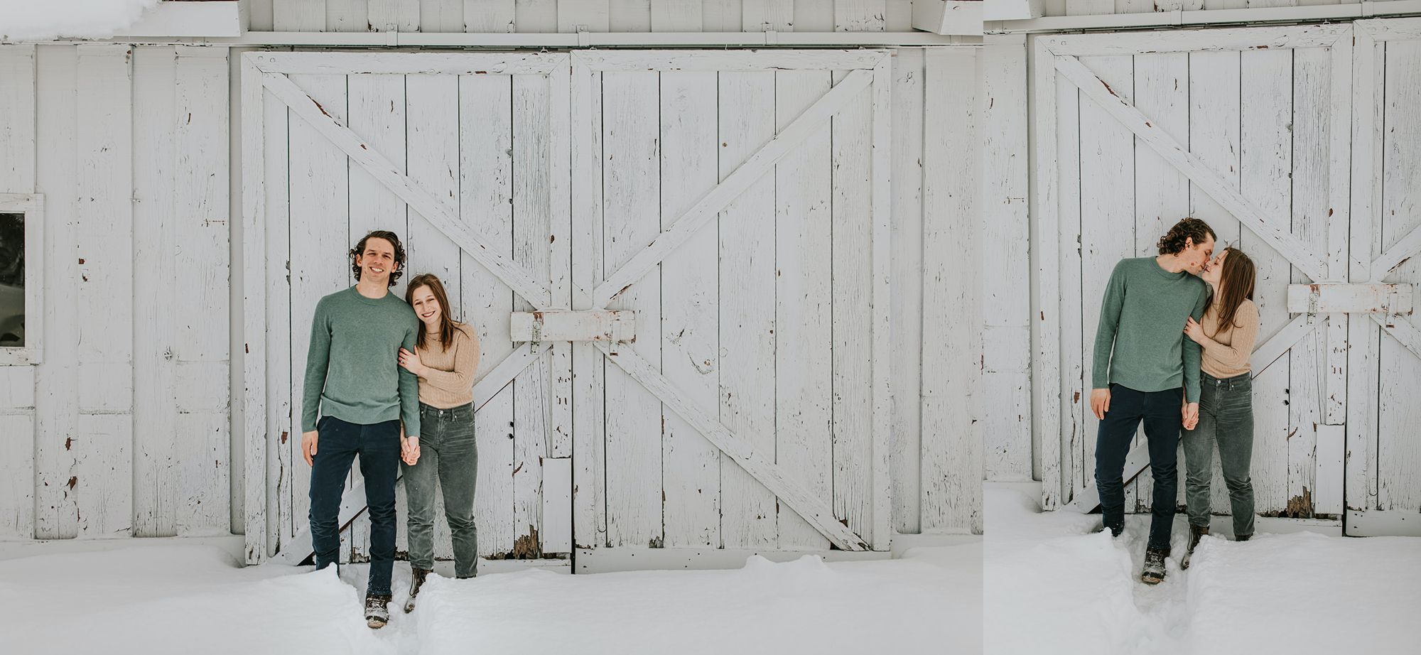 Edson Hill Engagement White Barn Portraits