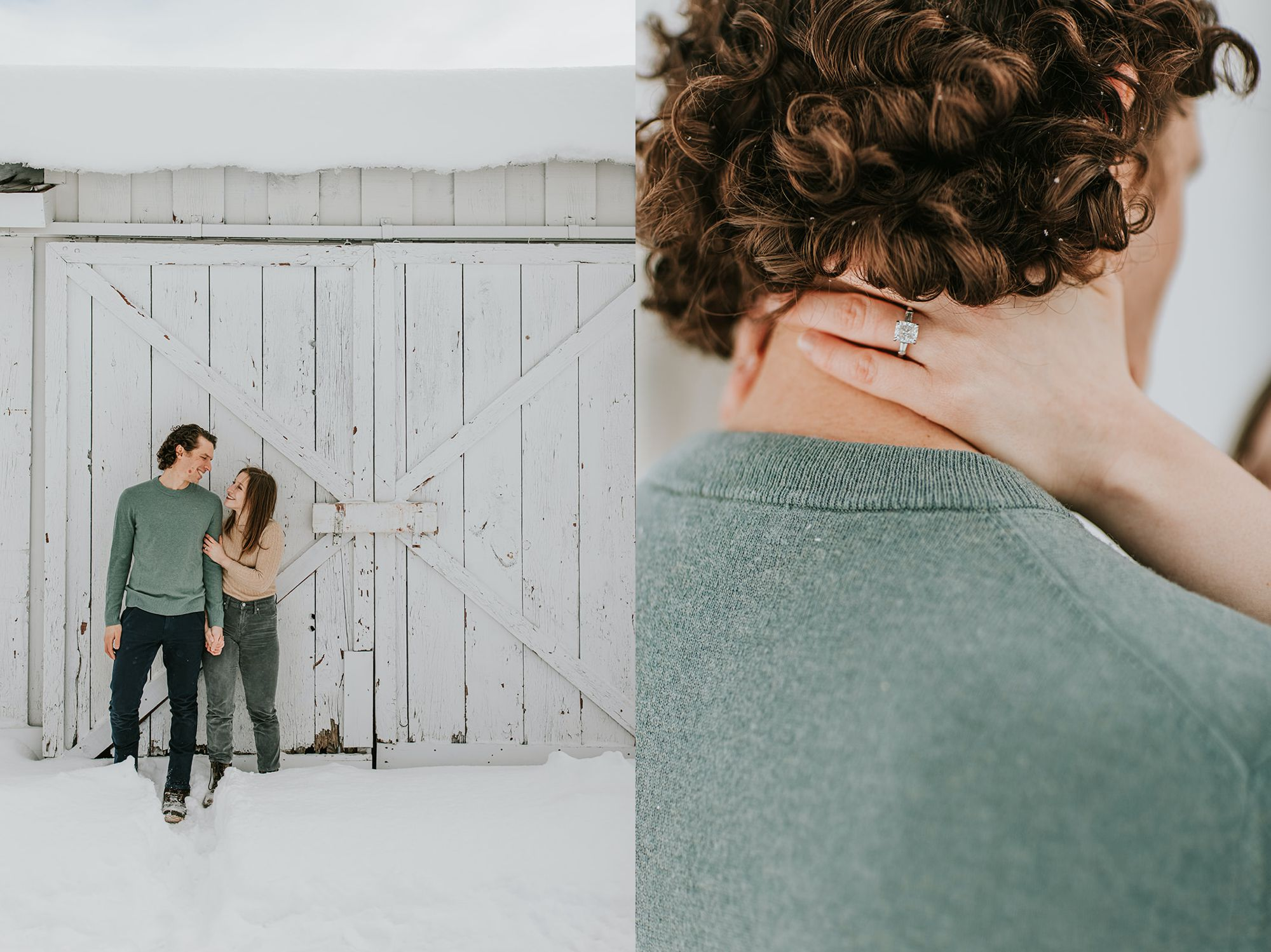 Edson Hill Engagement White Barn