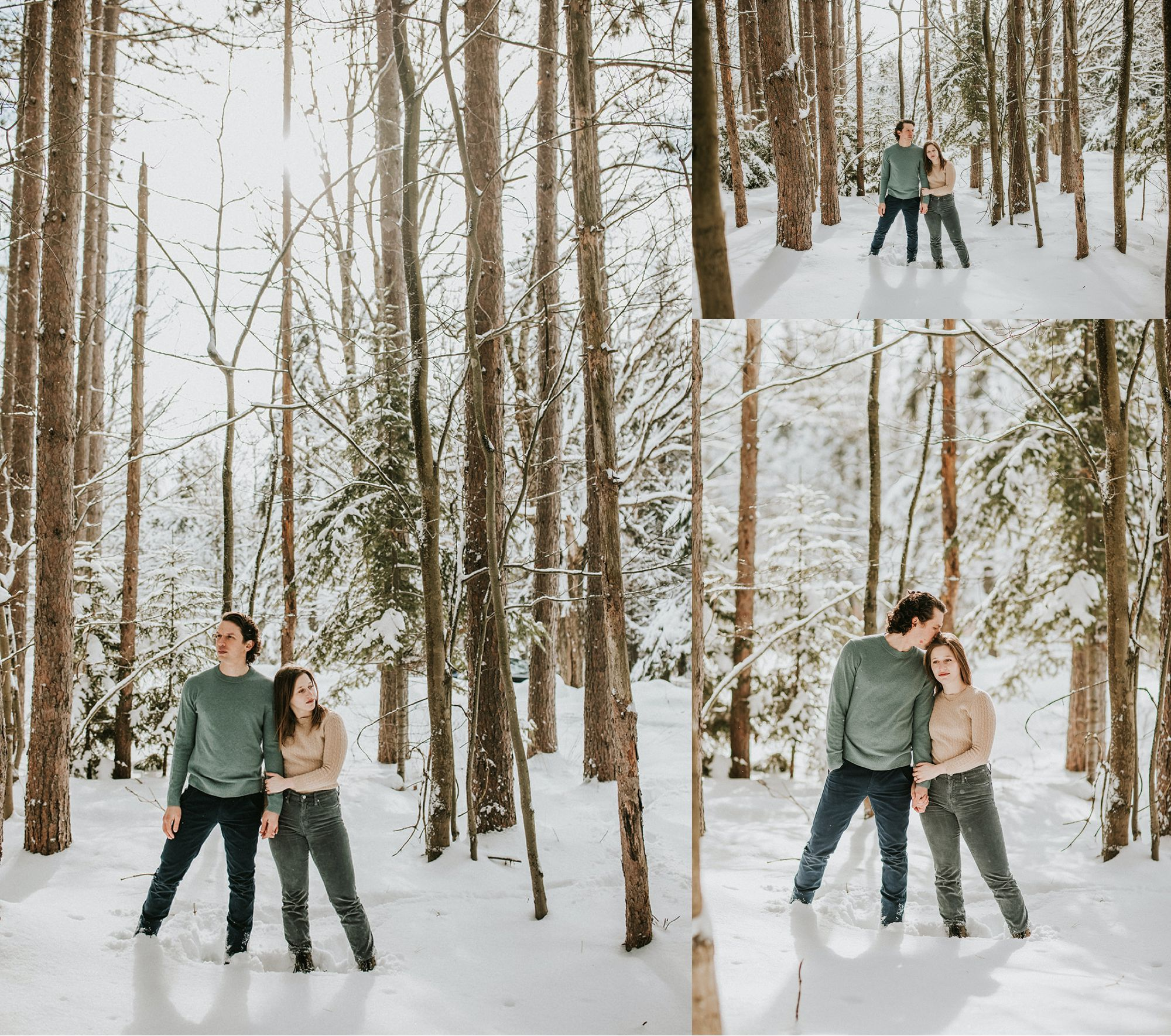 Edson Hill Engagement In the Trees