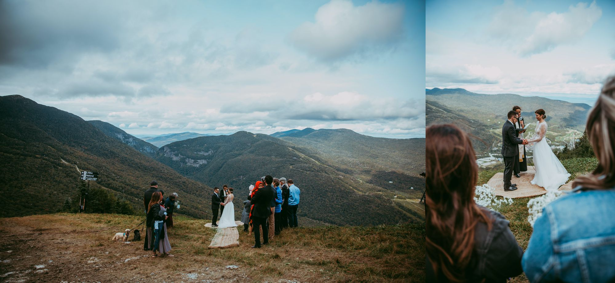 Mt Mansfield Ceremony Outdoors Overview
