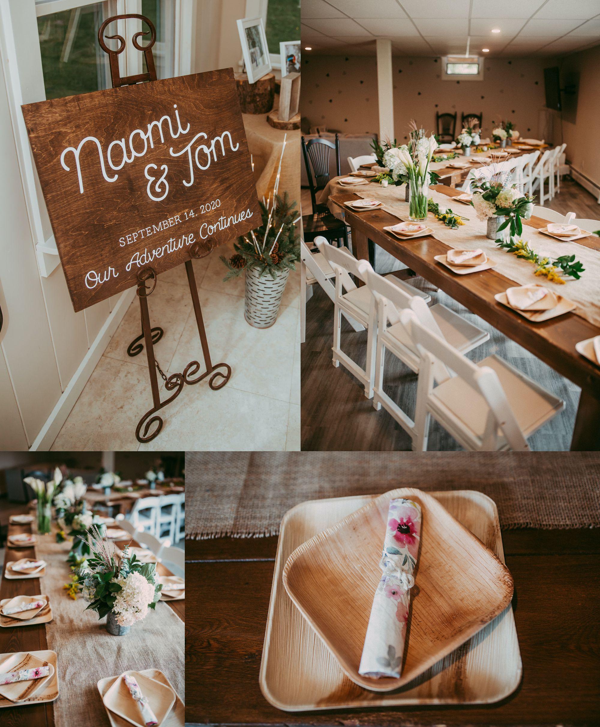 Mt Mansfield Wedding Details Reception Dinner
