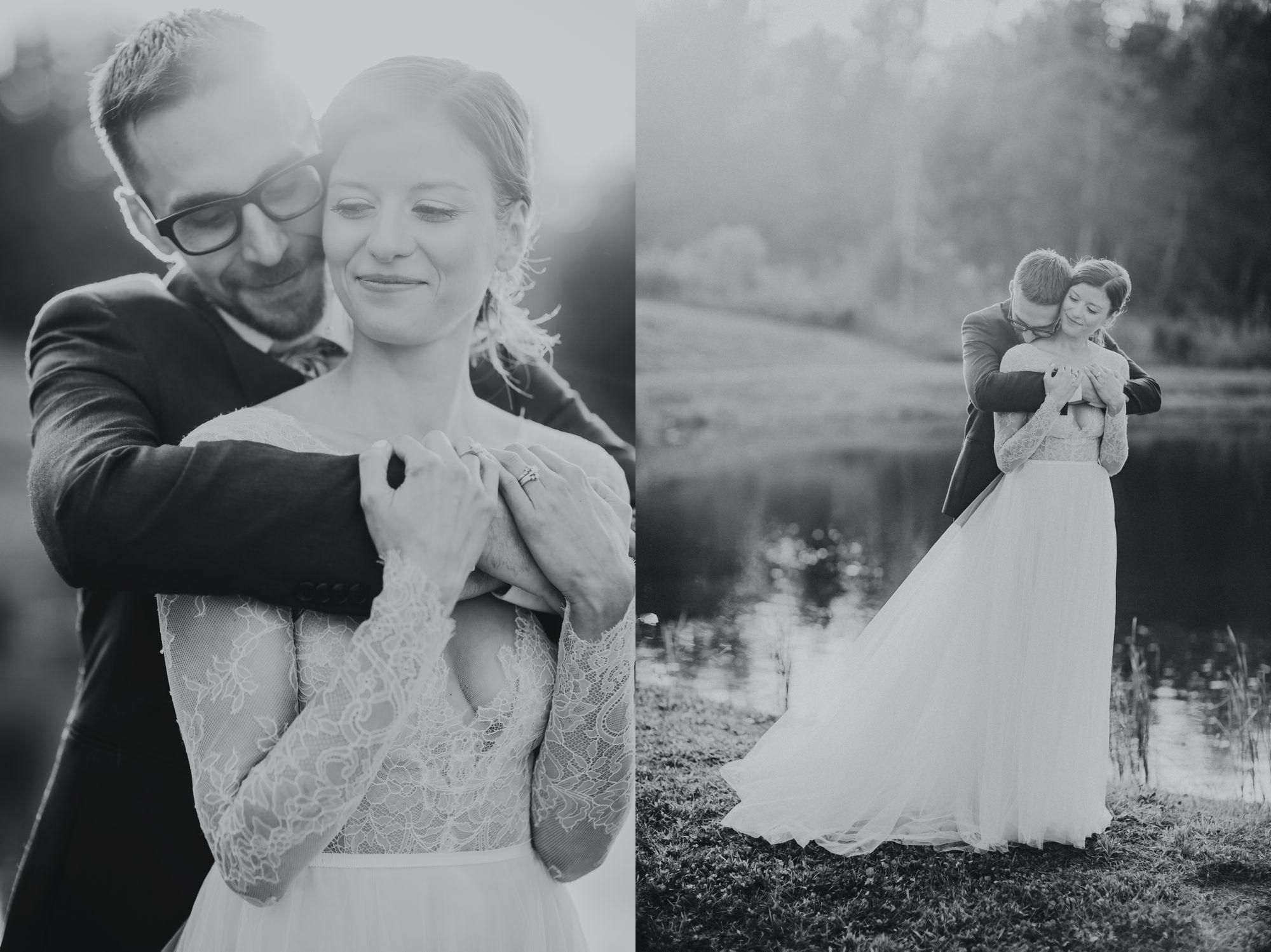 Mt Mansfield Wedding Black and White Portraits