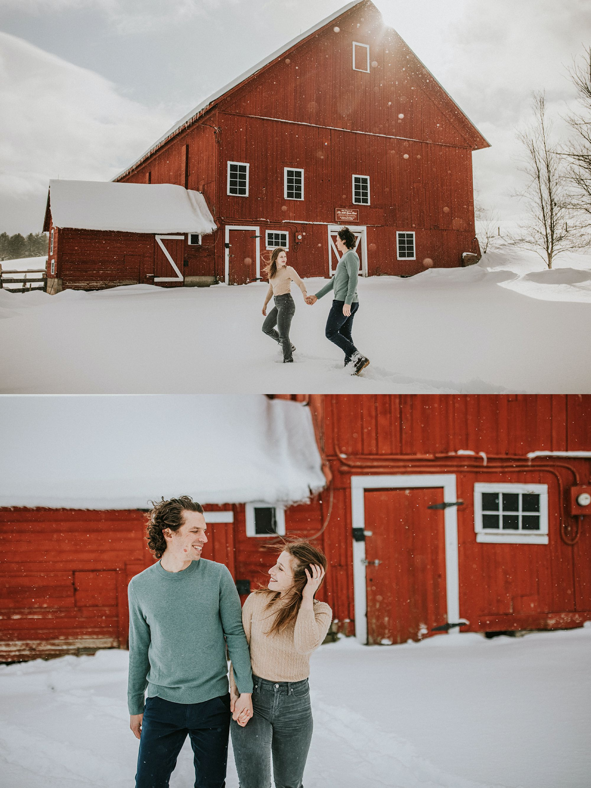 Spear Farm Barn Engagement Walking
