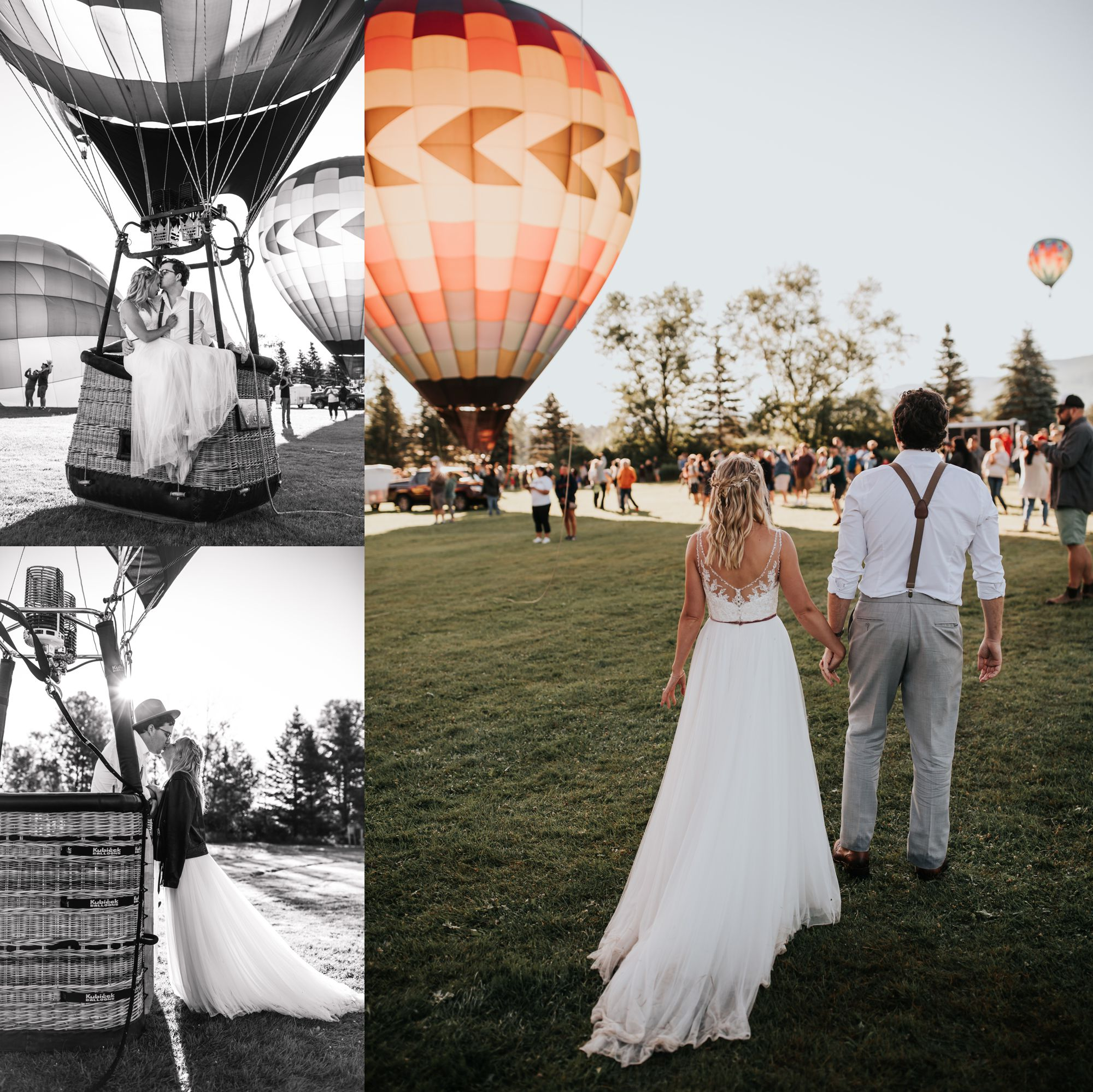 Stoweflake Balloon Bride and Groom