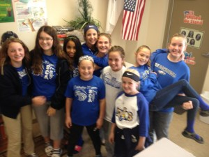 5th & 6th-grade girls show their SCA spirit!