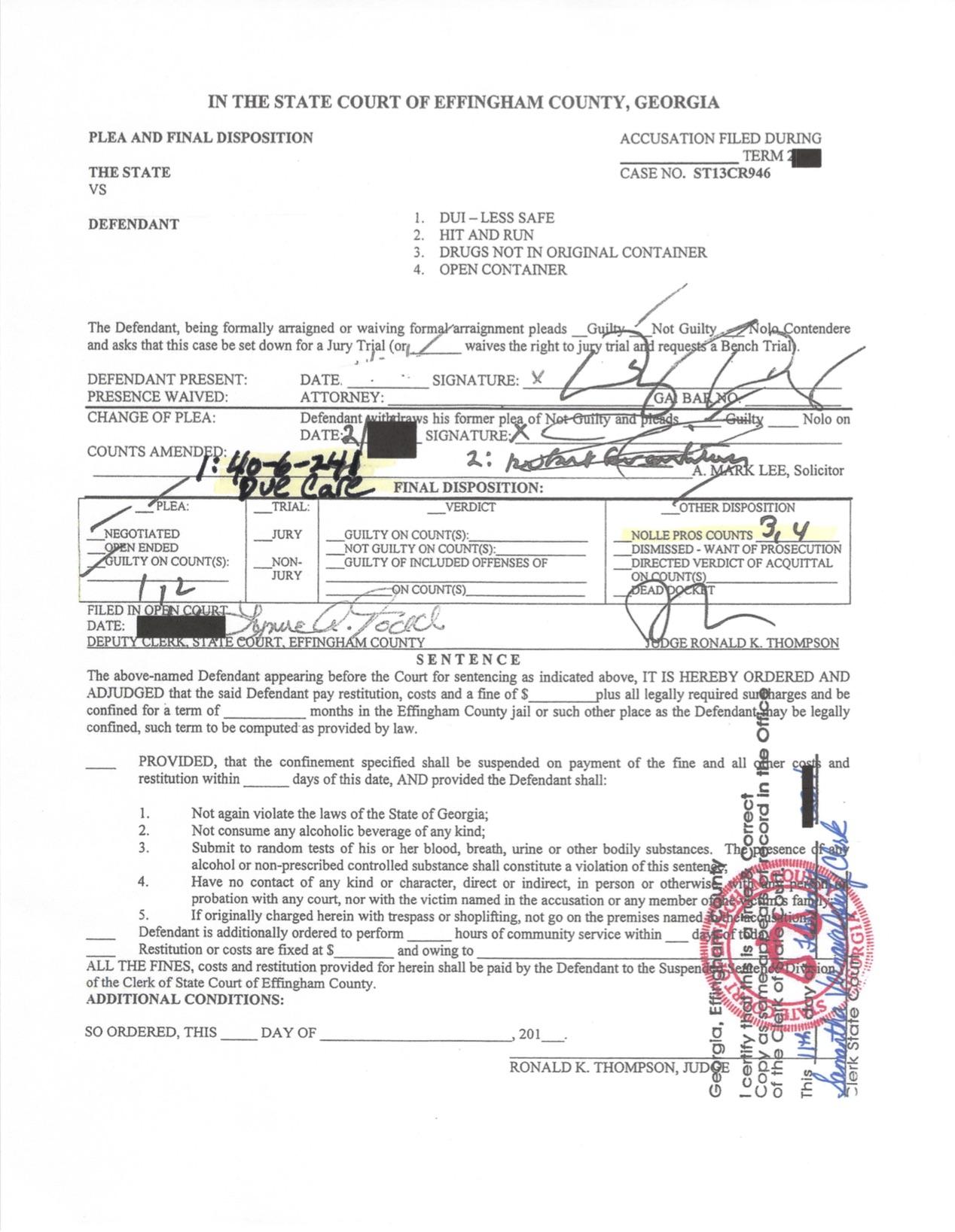 Effingham DUI reduced for Pharmacist - Jason Cerbone, Savannah DUI lawyer