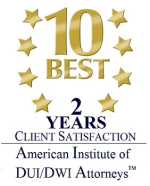 10 best DUI& DWI Attorneys 2 years client satisfaction