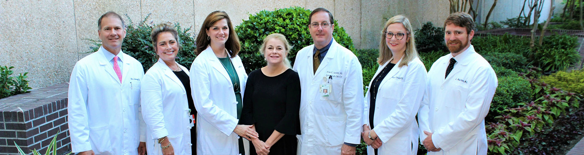 Group photo of the doctors at Savannah OBGYN
