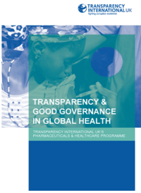 Transparency and Good Governance cover