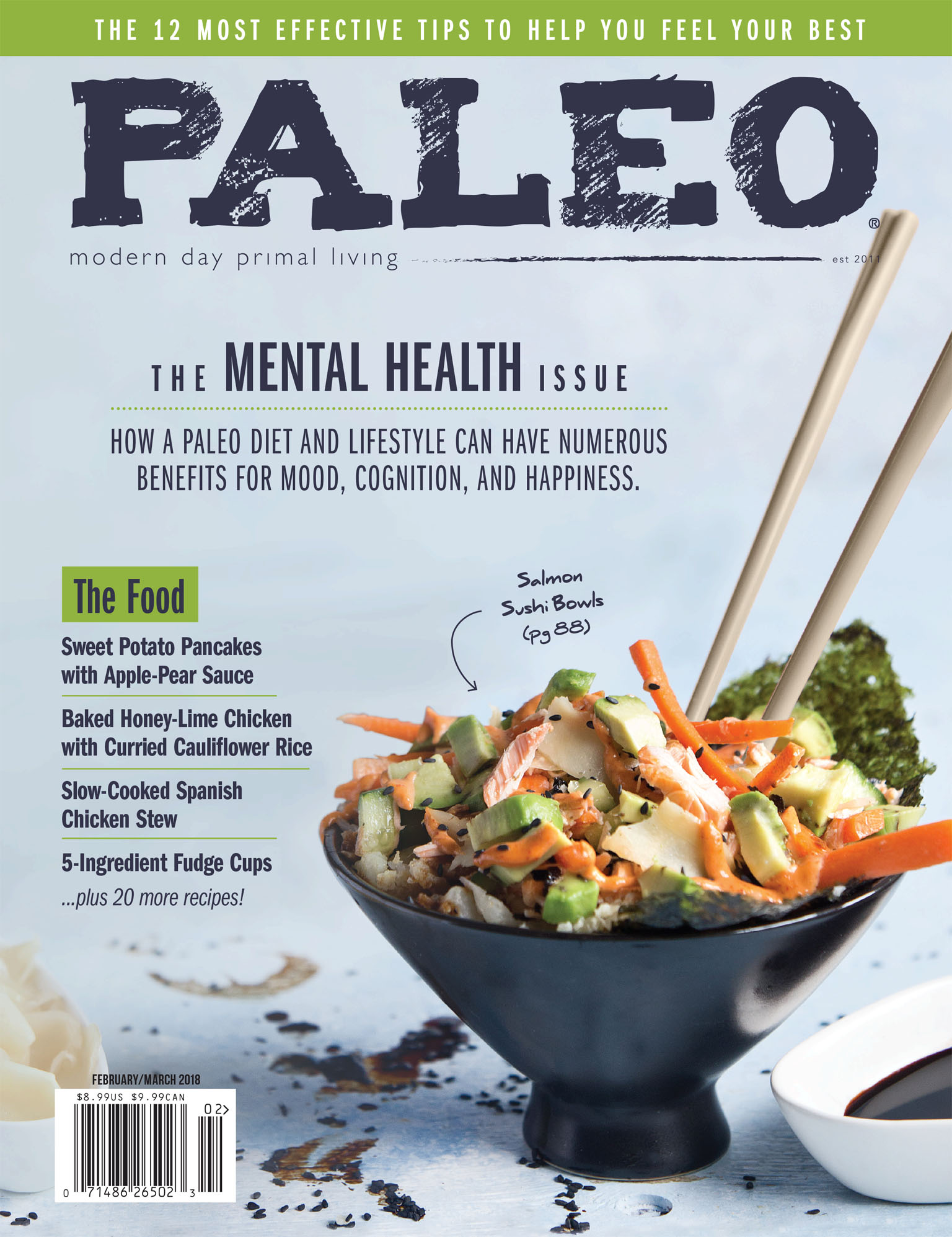 Paleo Magazine Cover Photography February March 2018