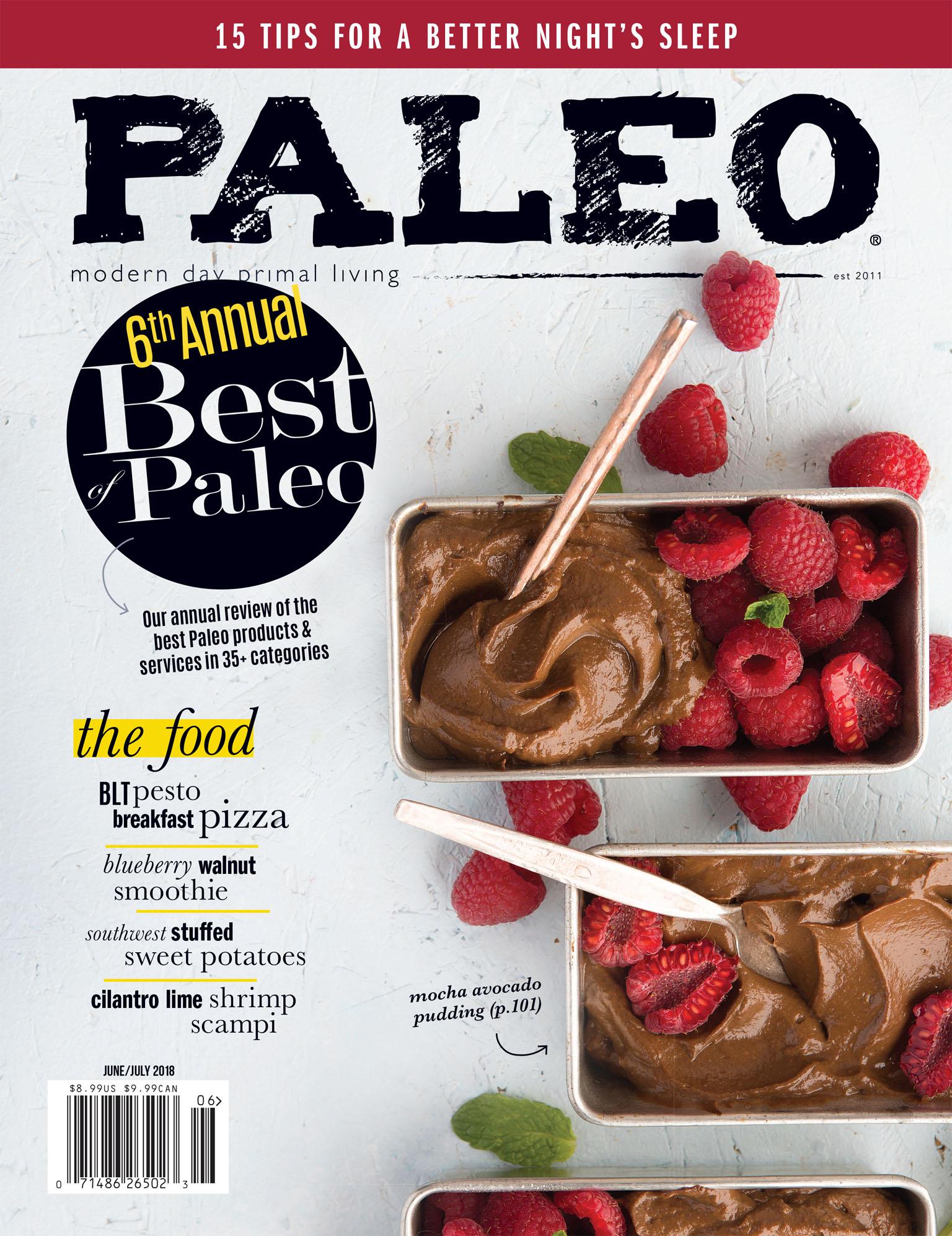 Paleo Magazine Cover Photography June July 2018