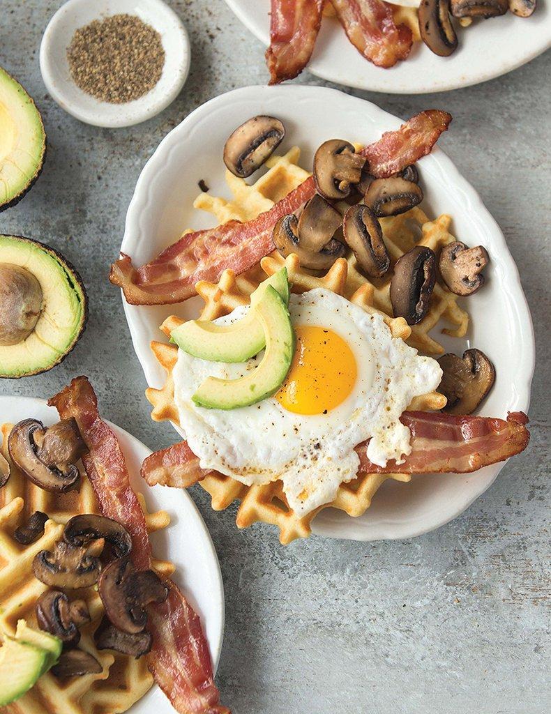 Paleo Magazine - Waffles Recipe - Cookbook Photography