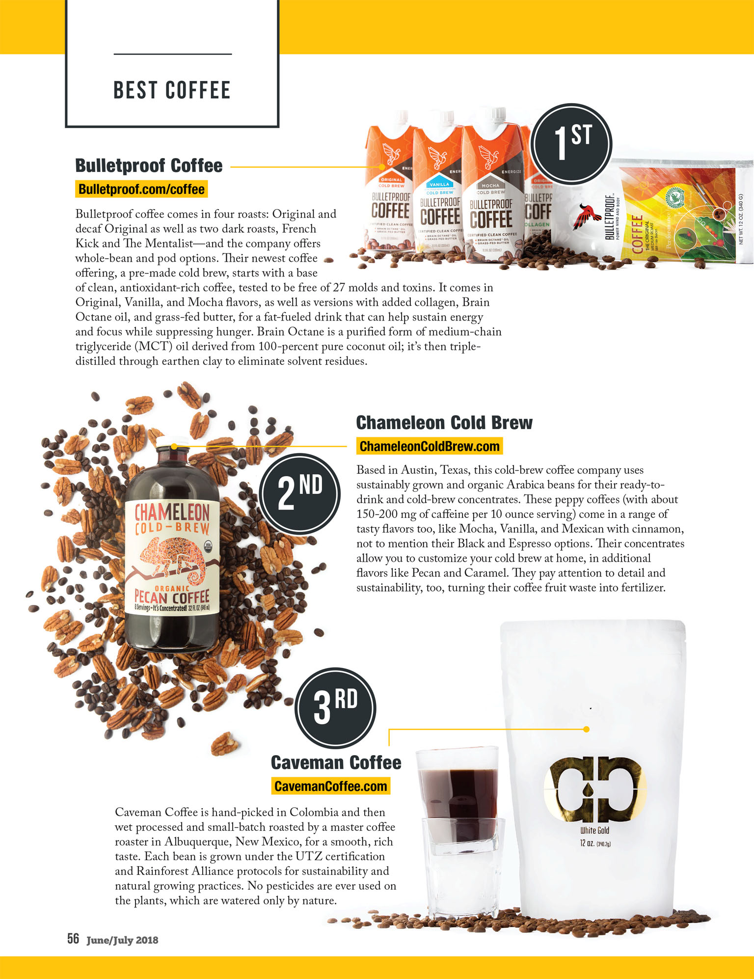 Best Paleo Coffee | Bulletproof, Chameleon Cold Brew, Caveman Coffee | Paleo Magazine