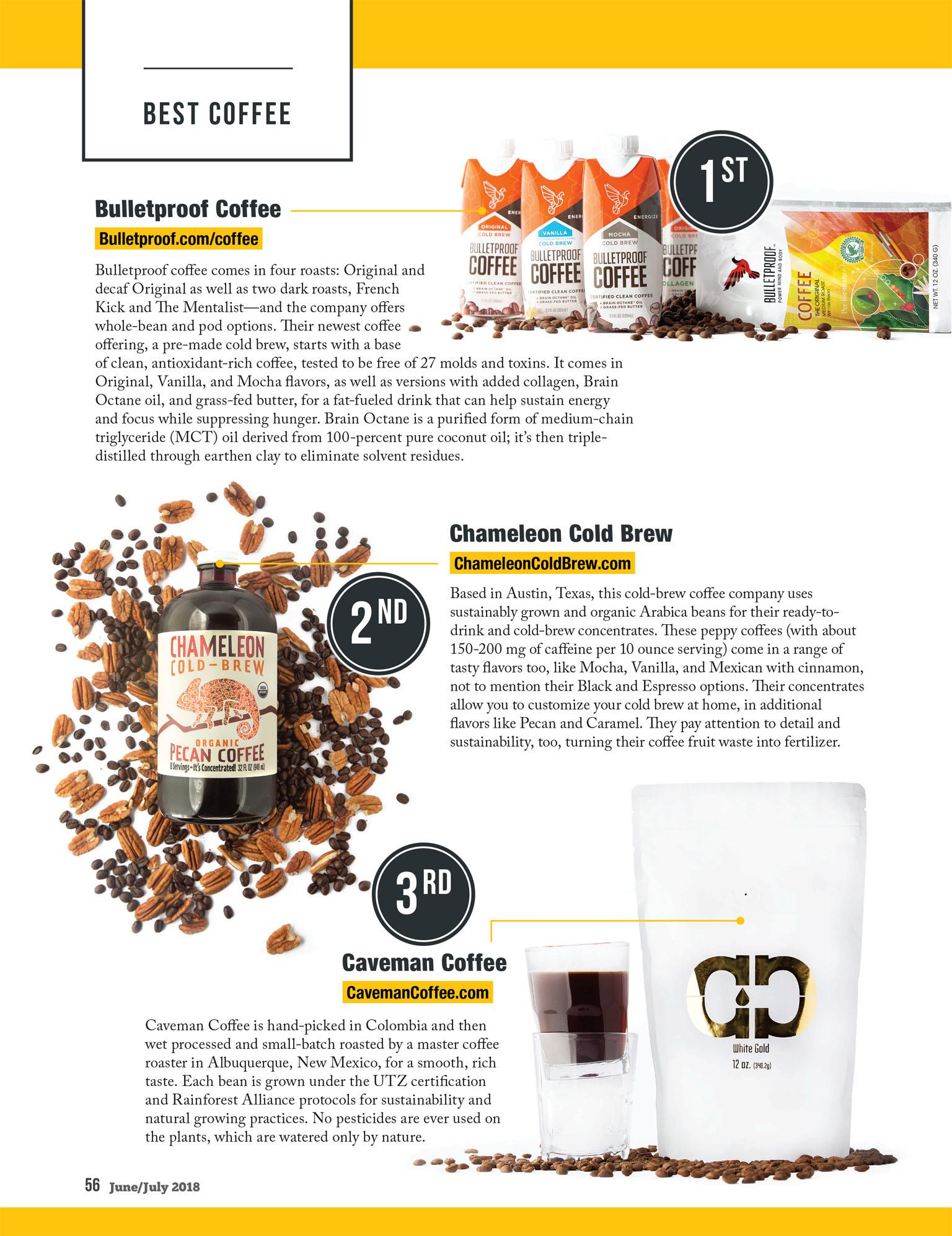 Best Paleo Coffee | Bulletproof, Chameleon Cold Brew, Caveman Coffee | Paleo Magazine