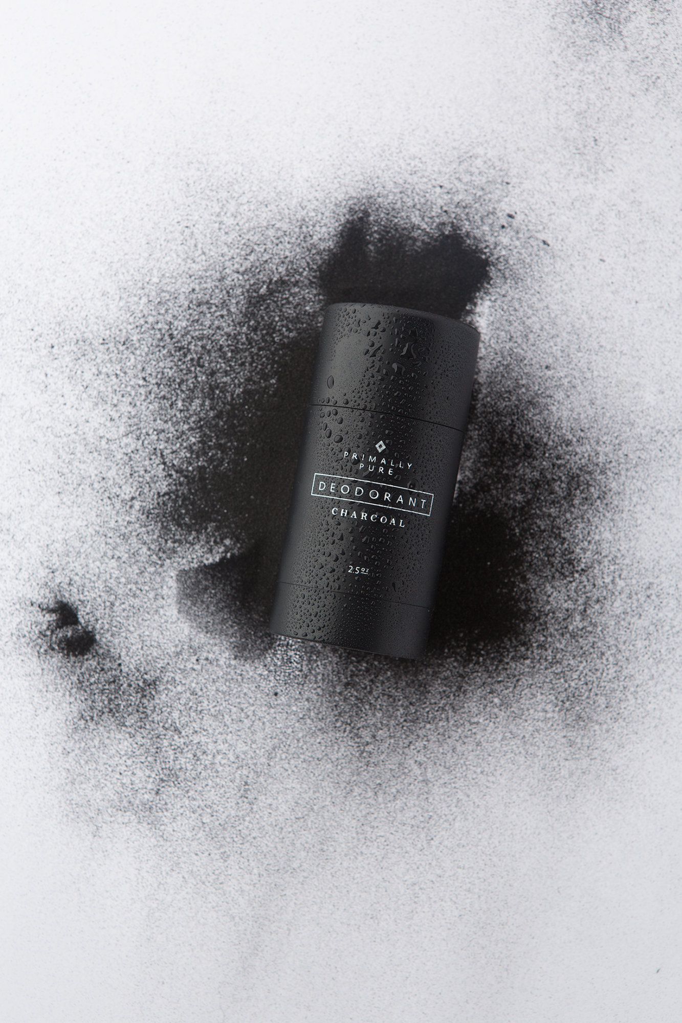 Primally Pure Charcoal Deodorant | Best of Paleo Magazine Product Photography