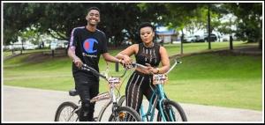 vusi buthelezi zodwa wabantu riding bikes