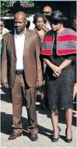 Who is Florence Masebe's husband?