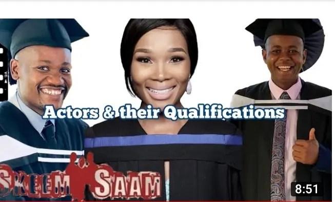 Skeem Saam actors and their qualifications