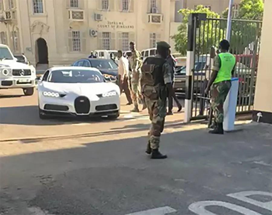 Buyanga visits President Mnangagwa at his Munhumutapa offices in a Bugatti