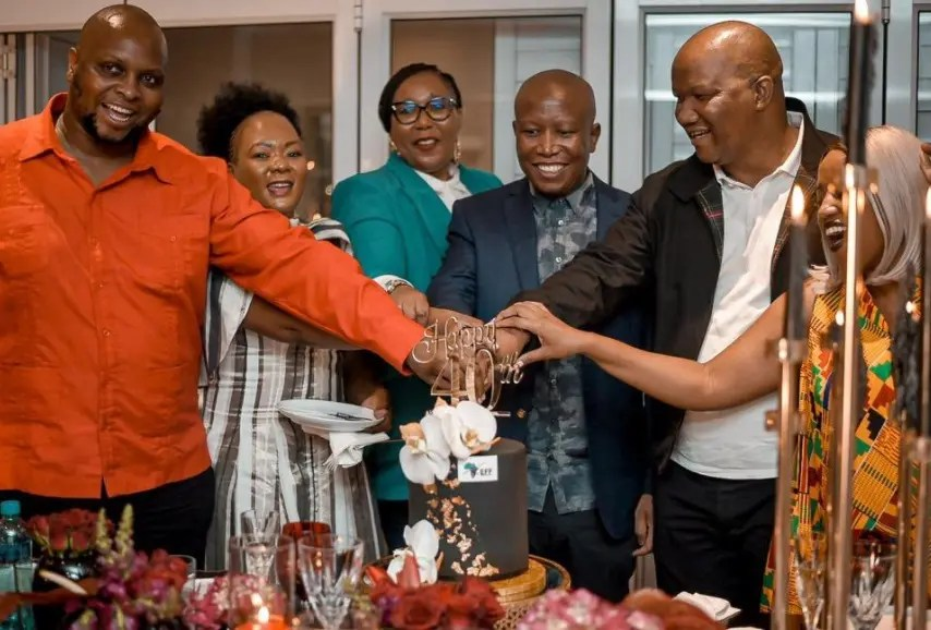 Pictures: A look at Julius Malema's 40th birthday dinner fiesta